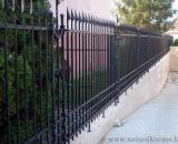 modern kovácsolt kerítés (Debrecen)